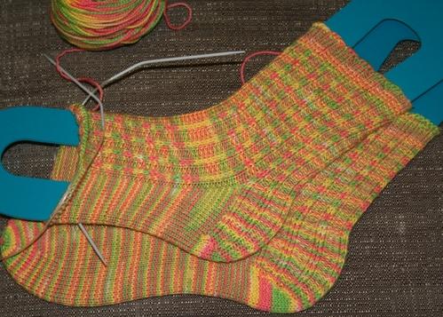 Bird of Paradise Socks - Now Finished